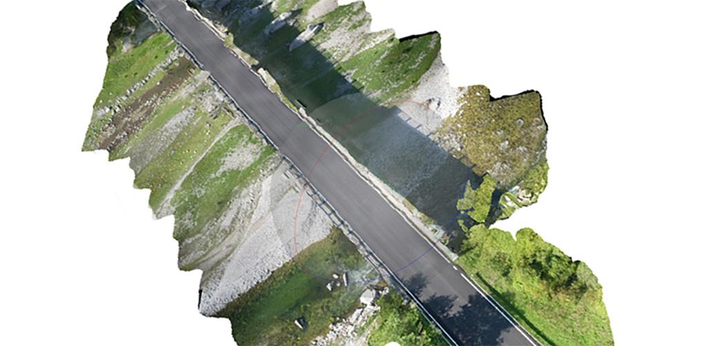 ispezione fotogrammetrica con drone su ponte