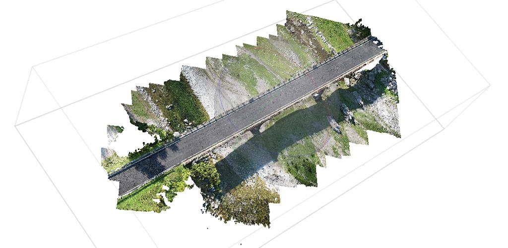 fotogrammetria da drone su ponte